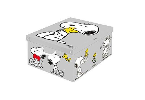 Kanguru Dekorative Aufbewahrungsbox mit Griffen und Deckel, Snoopy-Motiv, Mehrfarbig (2014 Snoopy)