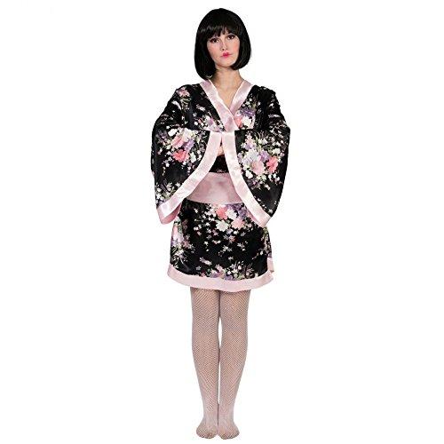 wi 36/38 Kimono schwarz/rosa Fasching Geisha Asiatin Länder (Kiwi Kostüm Kostüm)