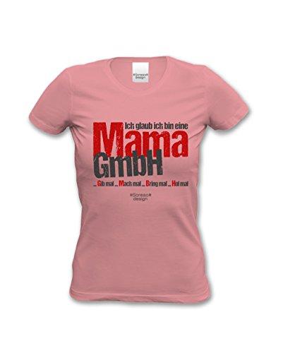 stylisches Damen T-Shirt Motiv Ich glaub ich bin eine Mama GmbH das ideale Geschenk zum Muttertag Farbe: rosa Rosa