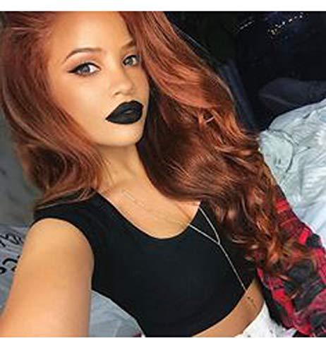(Vebonnie 2019 Synthetic Copper Red Lace Front Perücken Für Damen, Schöne Natürlich Aussehende Am Besten Gewellte Synthetische Lange HaarPerücken 22 Zoll)