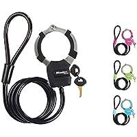 MASTER LOCK Antirrobo Cable [Largo 1 m] 8275EURDPRO - Candado de Bicicleta, Patinete Electrico, Carros Bebe, Equipo Deportivo