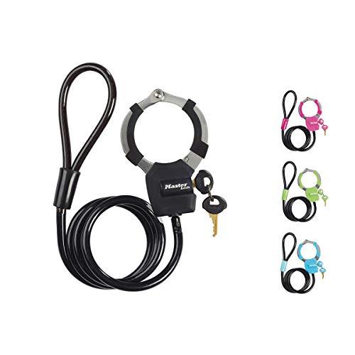 Master lock antifurto per bicicletta [cavo + manette] [serratura a chiave] 8275eurdpro - ideale per bicicletta, monopattino elettrico, passeggino, attrezzature sportive