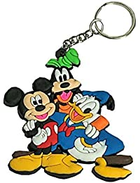 Mickey Mouse/Donald Duck/Goofy Friends Animal Cartoon Movie Character Rubber Keychain | Key Ring For Car Bike...