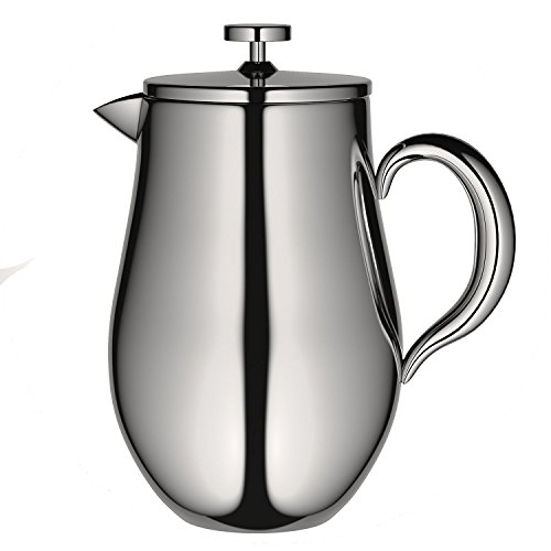 VeoHome - Pressfilter-Kaffeekanne – Kaffeebereiter - unzerbrechlich und hält Ihren kaffee dank der Doppelhülle lange warm (1 Liter)