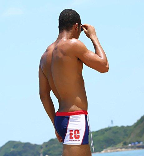 Surenow Herren Männer Niedrigtaille Kurze Hose Surfshorts Badeshorts Badehose Beachshorts Boardshorts Rot