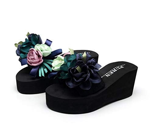 Frauen Blume Plattform Rutsche Sandalen Slip on
