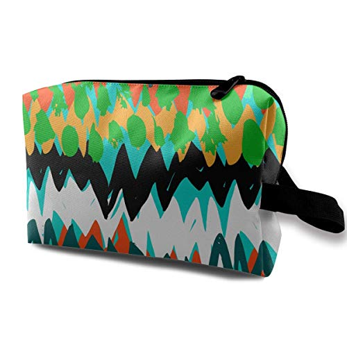 etiktaschen Grunge Hand Painted Abstract Pattern Multi-Functional Toiletry Makeup Organizer Makeup Bag for Purse ()