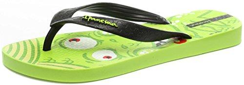 Ipanema Monster Kinder Flip Flops / Sandalen - Grün Schwarz-Green-25/26