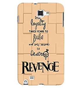 PrintVisa Quotes & Messages 3D Hard Polycarbonate Designer Back Case Cover for Samsung Galaxy Note 2