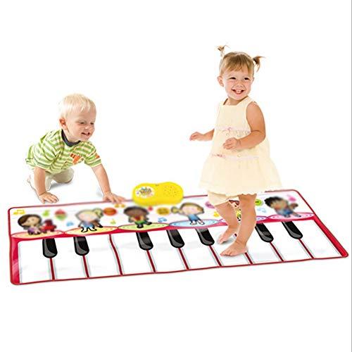 Musical Teppich, Baby Musical Piano Matte Musikinstrument Spielzeug Touch Spiel Keyboard Gym Play Mat für Kinder