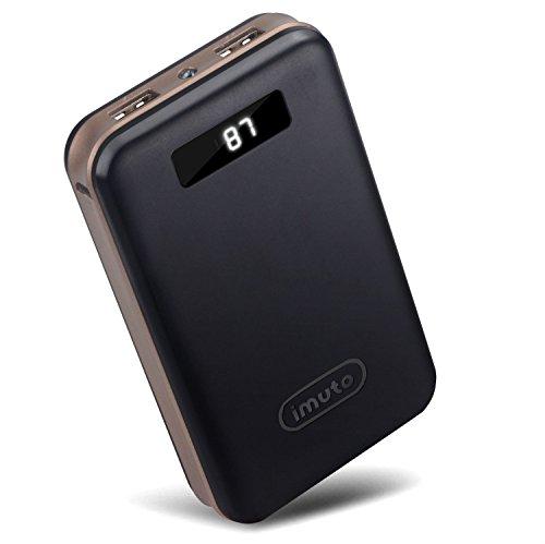 iMuto 20000mAh Compacto Batería Externa Power Bank Cargador Portátil con LED Inteligente Mostrador Digital y Cargar Rápida, batería de respaldo Empalaje de Campamento Batería Portátil para iPhone 6 6S Plus 6+ 5S 4S, iPad Air 2 mini 3 Pro, Samsung Galaxy Note 4 5 3, S6 Edge S6 S5 S4, Tab, Google Nexus 6 5 4, LG G3 G4, HTC One M8 M9, Motorola Moto X, SONY Xperia Z3 4 2, PS Vita, Gopro, Móviles Inteligentes y Tabletas