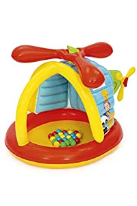 Bestway 93538-19 Fisher Price - Helicóptero Hinchable (25 Pelotas, 155 x 102 x 91 cm)