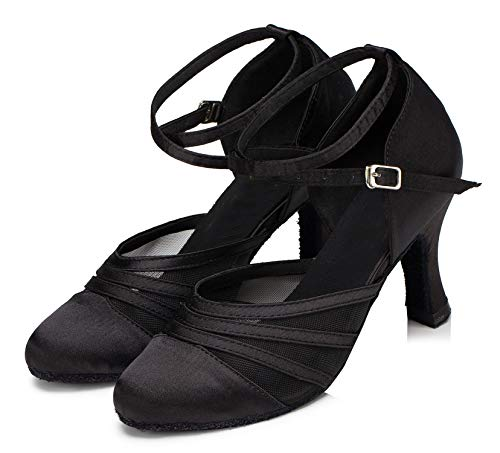 Minitoo ,  Damen Tanzschuhe , Schwarz – schwarz – Größe: 36.5 - 6