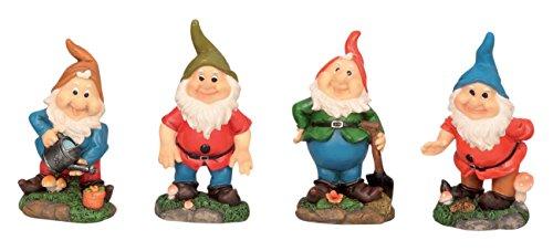 4 Lustige Gartenzwerge Gnome 18cm Gartenzwerg Gartenfigur - 2