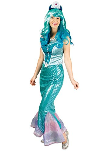 K31250600-40-42 Damen Meerjungfraukostüm Wassernixe ()