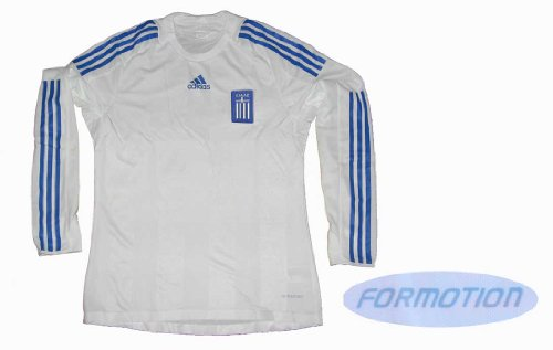 Griechenland Trikot Adidas Home 07/09 Spieleredition Langarm Gr.L
