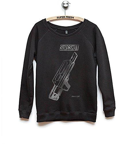 Kane Grey - Sweat-shirt - Manches Longues - Femme Silber Auf Schwarz
