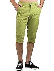 Chillaz International Hombre Boulder 3/4Pant Pantalón 3/4, primavera/verano, hombre, color dark lime green, tamaño small