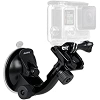 Sametop Suction Cup Mount Compatible with GoPro Hero 8, 7, 6, 5, 4, Session, 3+, 3, 2, 1, Hero (2018), Fusion, DJI Osmo Action Cameras; Perfect for Car Windshield and Window