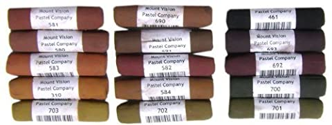 Mount Vision Pastel Company 15-Piece Dark Earth Set by Mount Vision Pastels