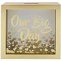 Preisvergleich für Hunky Dory Gifts Unser großer Tag Hochzeit Geld Box Fonds Münze Bank Einsparungen Brand New Boxed Geschenk