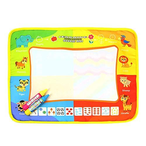 F-blue Enfants Intelligence Early Education Toy Magic Water Planche à Dessin pour Les Enfants Aqua Doodle Mat 40x30cm
