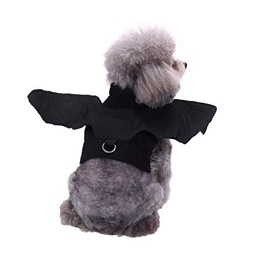 ZTMN Link Halloween Kleiner Hund Katze Welpe Fledermaus Vampir Haustier Kostüm Outfit Flügel (S, (Kleiner Hund Fledermaus Kostüm)