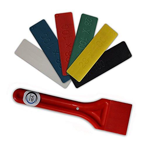 Espaciadores, palas o cuñas para acristalamiento de ventanas, 28 mm, de plástico