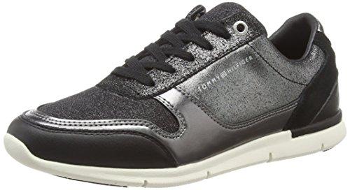 Tommy Hilfiger Sparkle Light Sneaker, Zapatillas para Mujer, Negro (Black 990), 39 EU