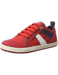 Geox J Kiwi B J, Baskets mode garçon - Rouge (Red), 33 EU