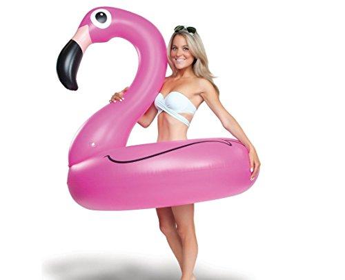 LALA IKAI Aufblasbarer Flamingo Schwimmring Luftmatratzen Schwimmreifen Pool Party Riesen 120cm/90cm (L)