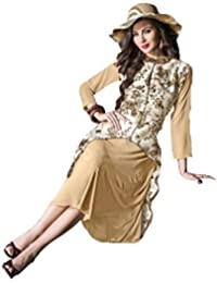 Lords Multi Georgette Stitched Printed With Embroidery Kurti