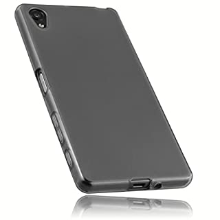 mumbi Schutzhülle für Sony Xperia X Hülle transparent schwarz