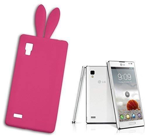 llet Kompatibel für LG Optimus L9 Bunny Gummibärchen Pink Fuchsia ()