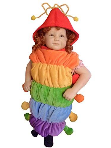 Raupen-Kostüm, F83 Gr. 86-92, für Klein-Kinder, Babies, Raupen-Kostüme Raupe Kinder-Kostüme Fasching Karneval, Kleinkinder-Karnevalskostüme, Faschingskostüme, ()
