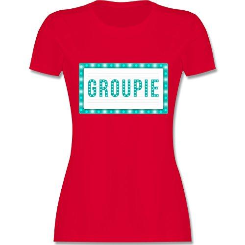 Rock'n'Roll - Groupie - tailliertes Premium T-Shirt mit Rundhalsausschnitt für Damen Rot