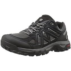 Salomon EVASION 2 AERO, Chaussures de Randonnée Basses Homme - Noir (Black/Magnet/Alloy), 44 EU