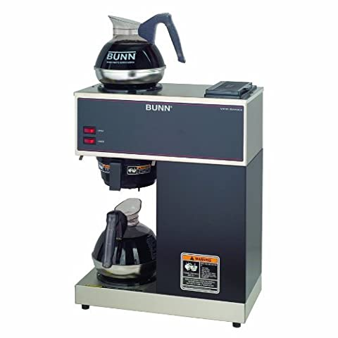 BUNN VPR-2EP 12-Cup Pourover Commercial Coffee Brewer Plus 2 Easy Pour Commercial Decanters by Bunn (Bunn Decanter)