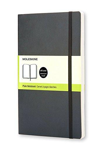 Moleskine Carnet blanc Grand format Couverture souple noire 13 x 21 cm