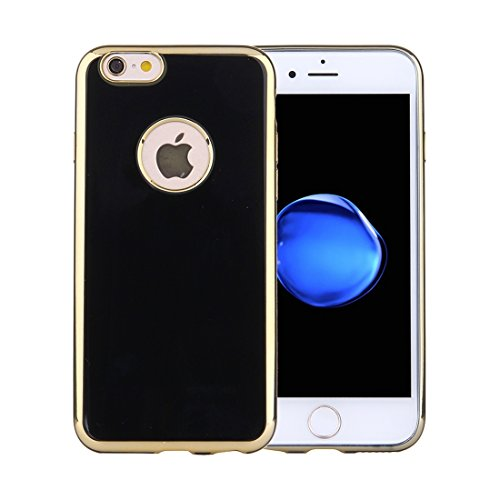 Phone case & Hülle Für iPhone 6 / 6s, Galvanisieren Soft TPU Schutzhülle ( Color : Pink ) Black