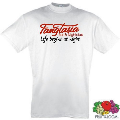 Fangtasia Bar T-Shirt True Blood Vampir Weiss