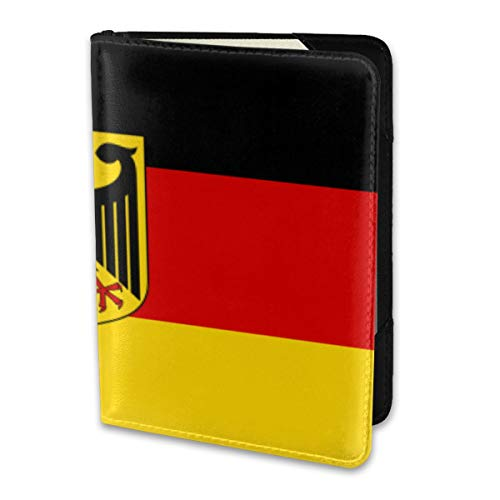 Passport Holder Cover,German State Flag Wallet Credit Card Set Blocking Leather Card Case Travel Accessories 6.5