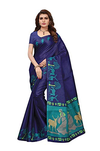 Art Decor Sarees Cotton Saree with Blouse Piece (Pack of 2) (AD-Hiren Blue!_Blue!_Free Size)