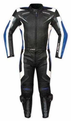 Tuta-Pelle-Moto-Racing-Pista-Sport-2-Pezzi-Divisibile-Prese-Aria-A-Pro-Blu-56