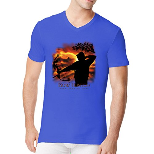 Sport Männer V-Neck Shirt - Bow Hunter by Im-Shirt Royal