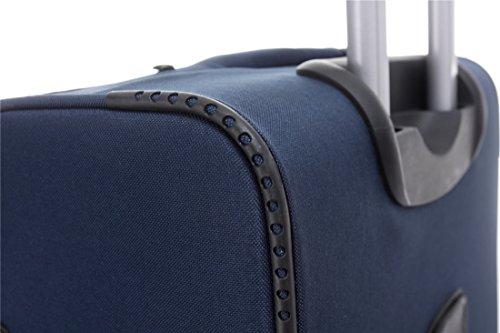 BEIBYE 4 Rollen Reisekoffer 8005 Stoffkoffer Gepäck Koffer Trolley SET-XL-L-M in 5 Farben Blau