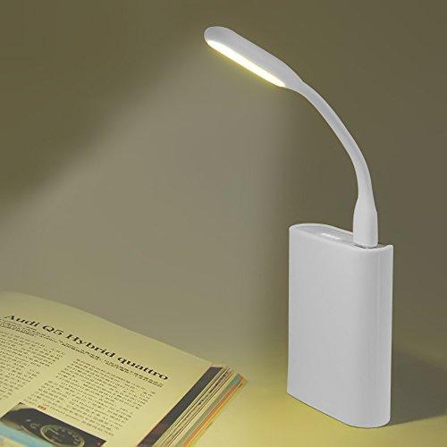 MENGZHEN Luz LED USB No Necesita Pilas Flexible Luz de Lectura de Noche Portátil para Ordenador Portátil PC
