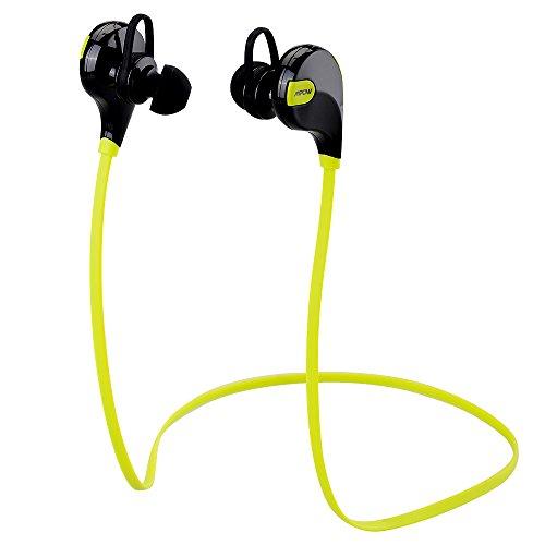 Preisvergleich Produktbild Mpow® Swift Bluetooth 4.0 Wireless Schweißfänger Sport Stereo In-Ear-Kopfhörer mit AptX Technologie und Mikrofon der Freisprechfunktion für iPhone 6 6 Plus 5S 5C 5 4S iPad, Samsung Galaxy S4 S3 Note 3 und andere Handy Smartphone