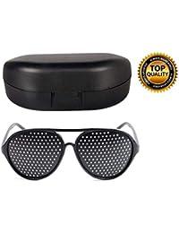 Digital Shoppy Pin hole Eyeglasses Eye Exercise Eyesight Improve Vision Glasses With Hard Case (3030)