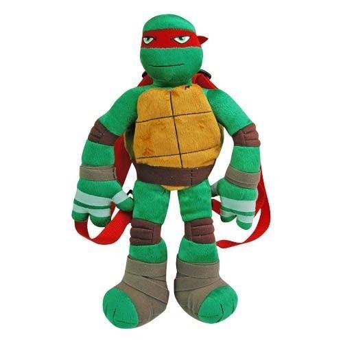Turtle Red Raphael Full Body Plush Backpack Doll Figure Bag (Red Ninja Turtle)
